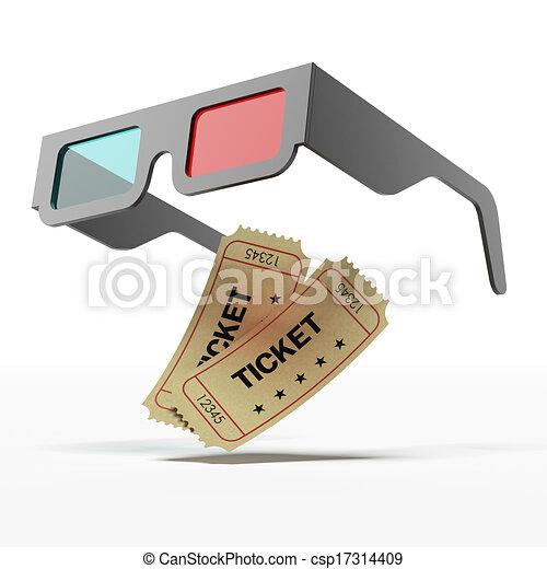 illustration de st r o lunettes film billets isol blanc fond 3d csp17314409. Black Bedroom Furniture Sets. Home Design Ideas