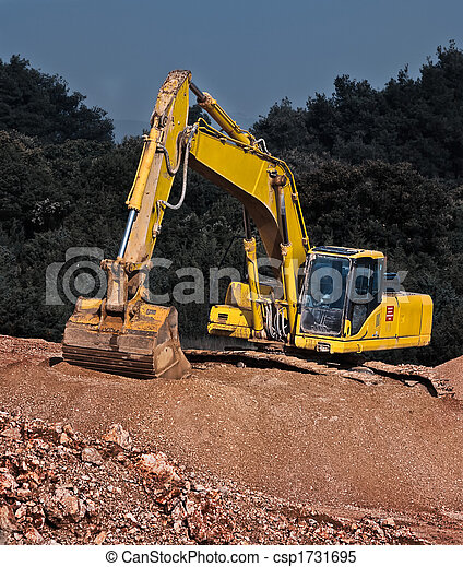 industrial gravel and  excavator - csp1731695
