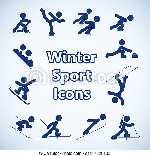 Winter sports icons set - csp17320105