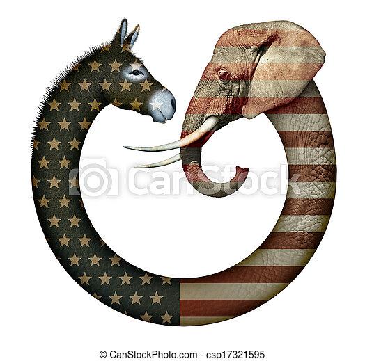 黨, 動物, 政治 - csp17321595