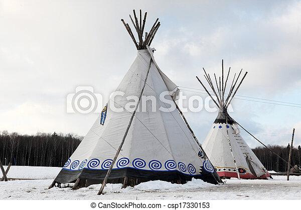 Native Indian tee-pee - csp17330153