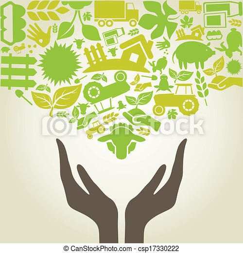 Hand agriculture - csp17330222