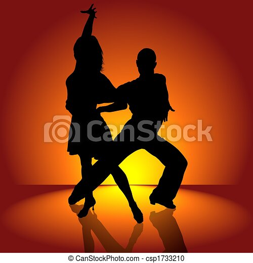 Burning Latino Dance - csp1733210