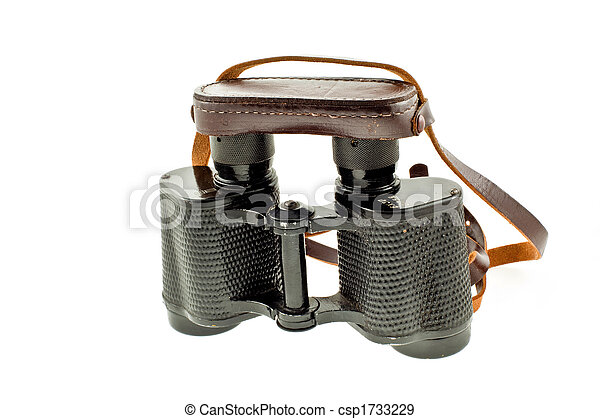 old military black binoculars - csp1733229