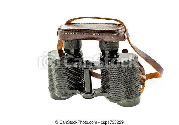 old military black binoculars  - csp1733229