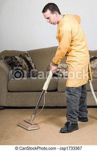 Im genes de el limpiar con la aspiradora un hombre - Trabajo limpiando casas ...
