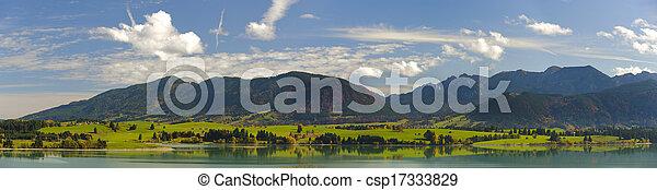 rural panorama landscape in Bavaria - csp17333829