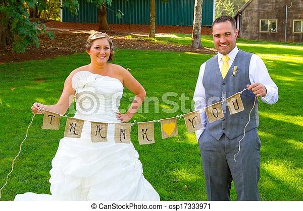 Bride Groom Thank You Banner