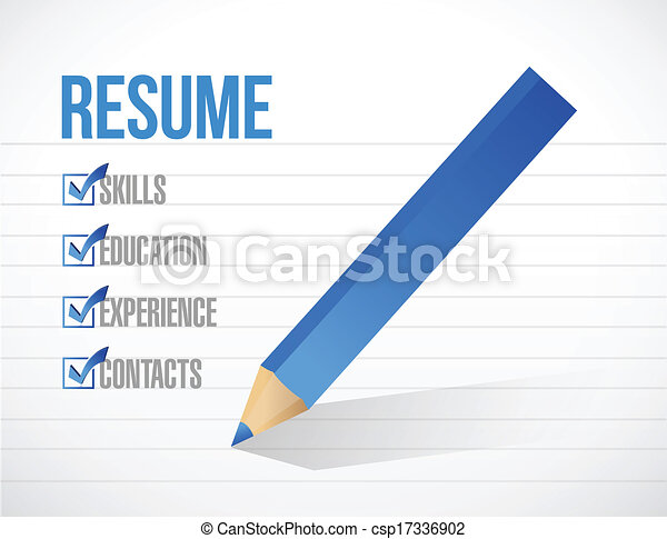 vector resume check mark list illustration design