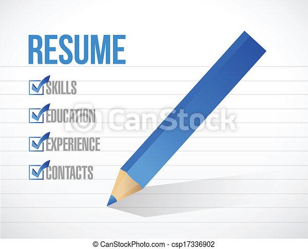 clip art vector of curriculum vitae resume opened envelope