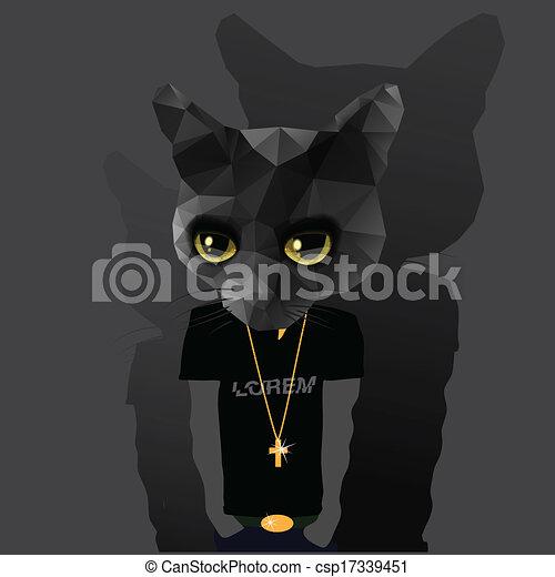 Cute fashion Hipster Animal - csp17339451