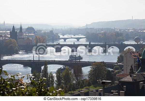 view of the bridges of Prague - csp17339816