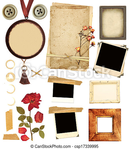 Collection elements for scrapbooking - csp17339995