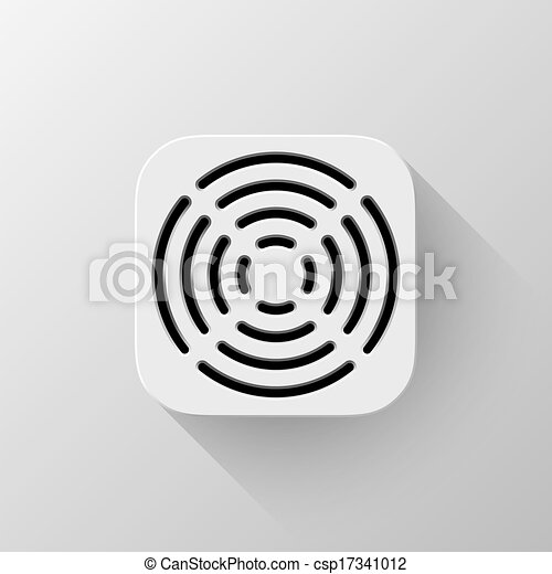 White Technology App Icon Template - csp17341012