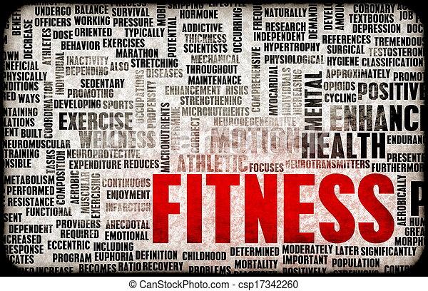 begrepp,  fitness - csp17342260