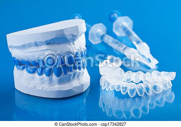 individual set for teeth whitening  - csp17342827