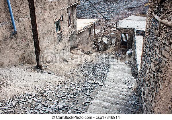 Village Kang in mountains near Mashhad, Iran - csp17346914