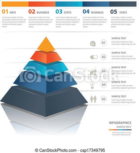 Pyramid chart - csp17349795