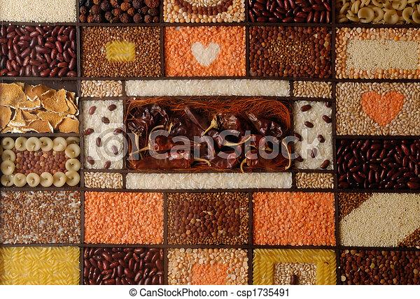 vegetarian food collage - csp1735491