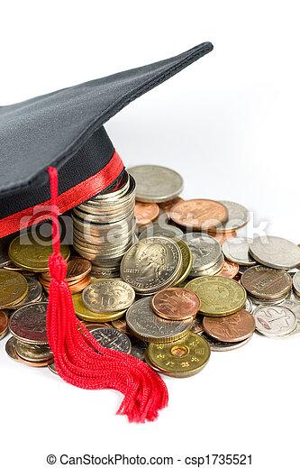 Graduation cap & coins - csp1735521
