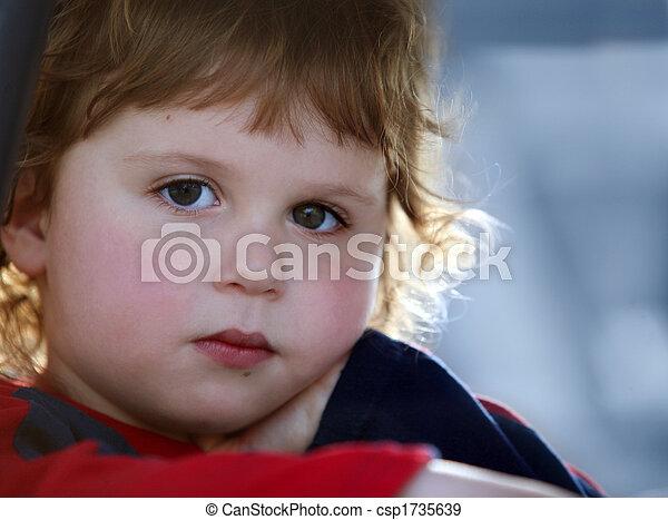 Sad baby boy - csp1735639