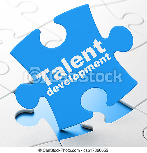Education concept: Talent Development on puzzle background - csp17360653