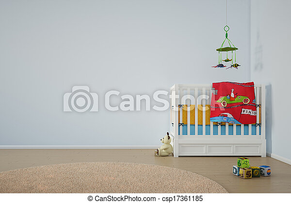 Kids play room with bed - csp17361185
