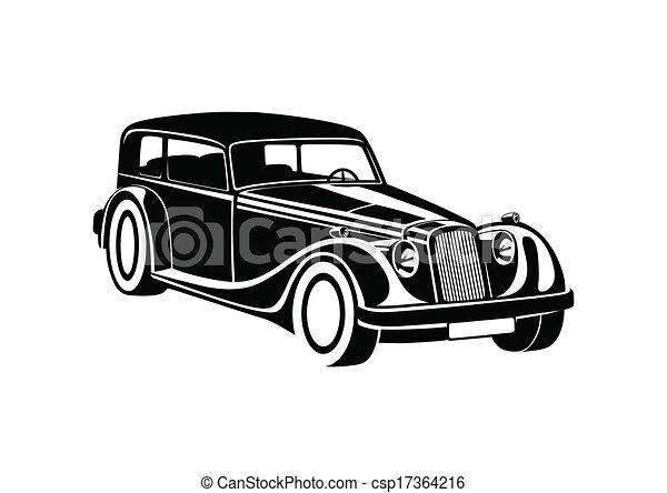 Black sport classic automobile - csp17364216
