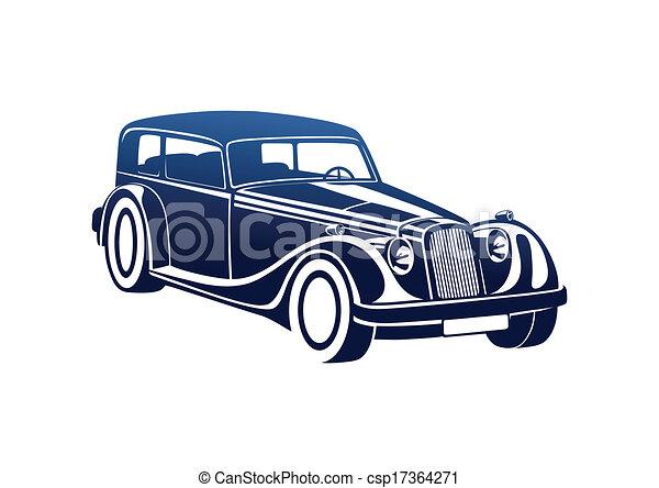 Blue sport classic automobile - csp17364271