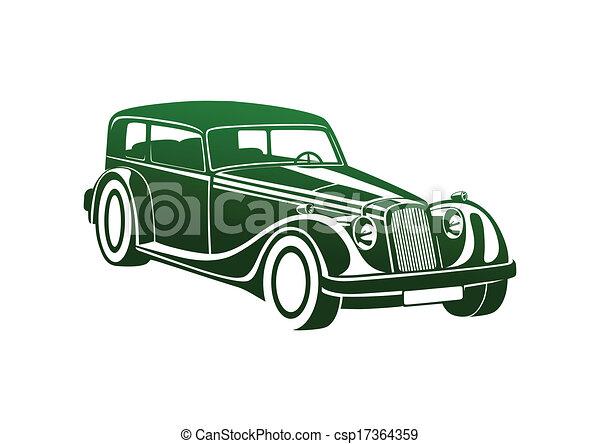 Green sport classic automobile - csp17364359