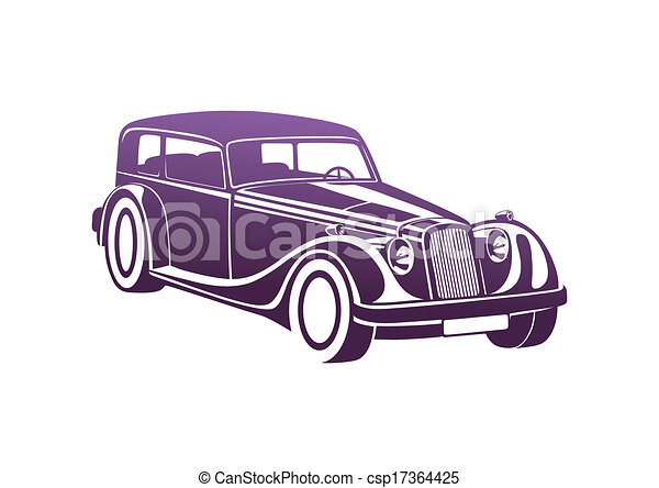 Purple sport classic automobile - csp17364425