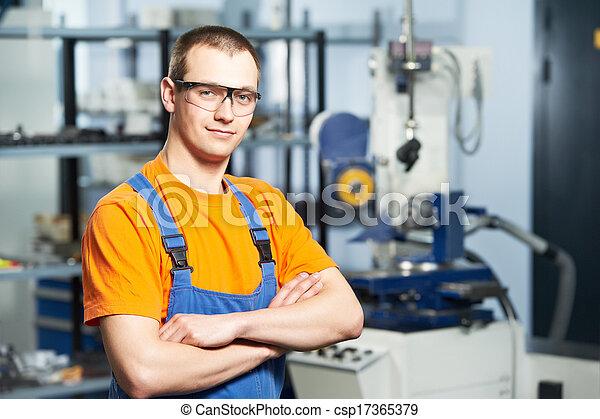 Portrait of experienced industrial worker - csp17365379