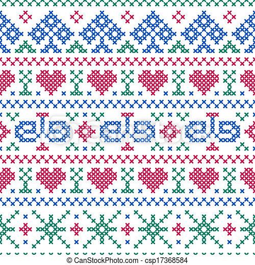 Cross Stitch Drawings Cross-stitch Style