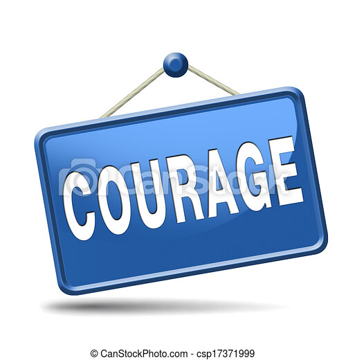 Stock Illustration of courage and bravery the ability to ...