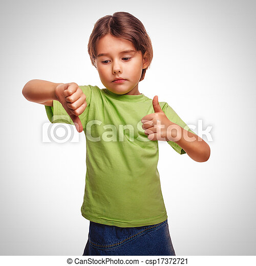 little baby girl shows sign yes no gesture isolated on white background emotions gray