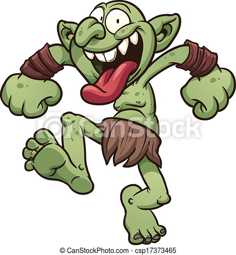 Image result for Caricature of a ugly scary troll