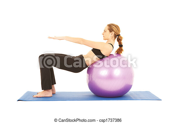 Pilates exercise series - csp1737386