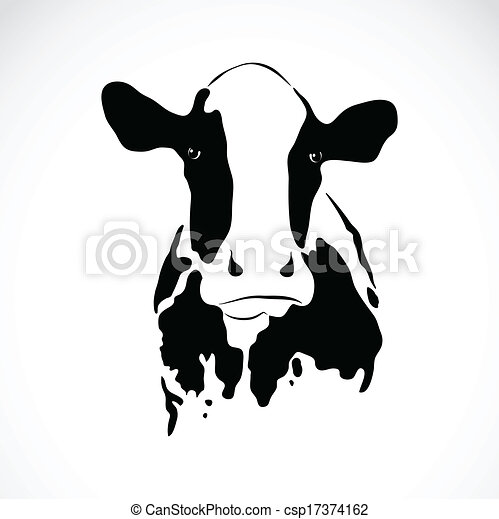 Clip Art Vector Of Vector Image Of An Cow On White