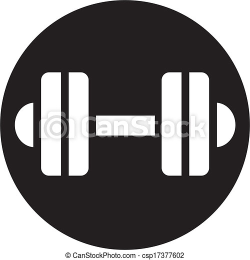 Dumbbell Icon Vector Vector - dumbbell icon