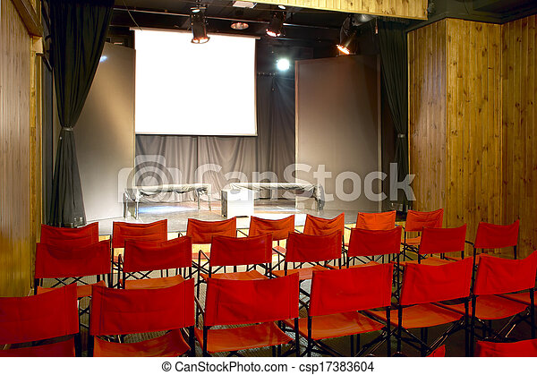 Small Movie Theater - csp17383604