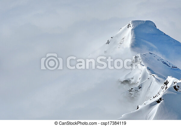 vacker,  Mountains, Vinter - csp17384119