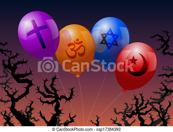 Balloons Religion - csp17384393