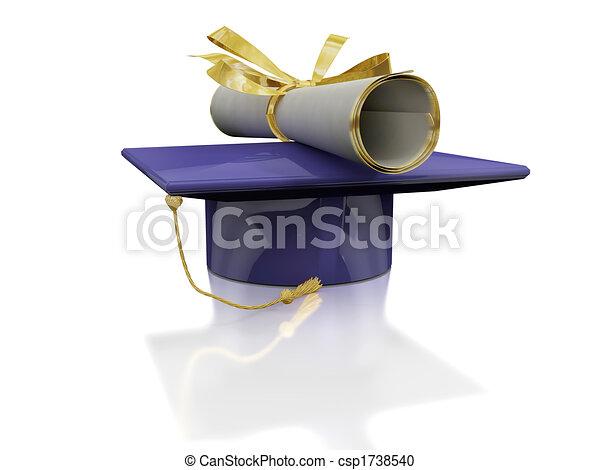 Diploma of a bachelor - csp1738540