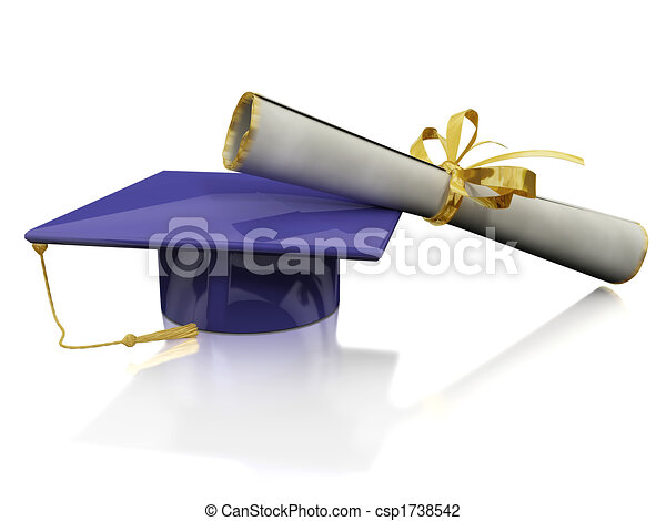 Diploma of a bachelor - csp1738542