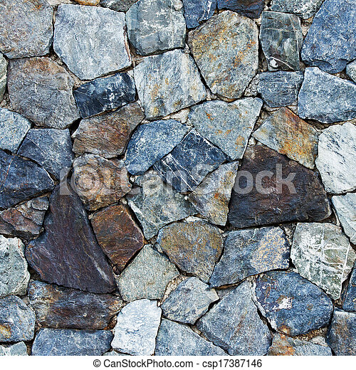 Pattern of old stone Wall Surfaced - csp17387146