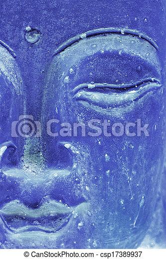 Glowing Blue Buddha - csp17389937