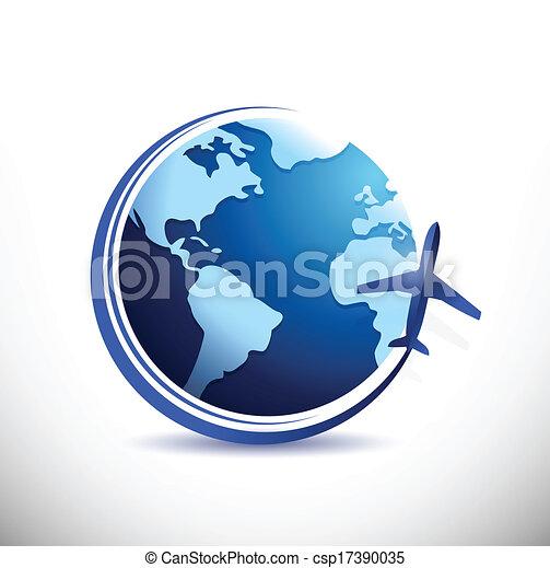 vectors of globe and plane illustration design over a free airplane clip art orange free airplane clip art orange