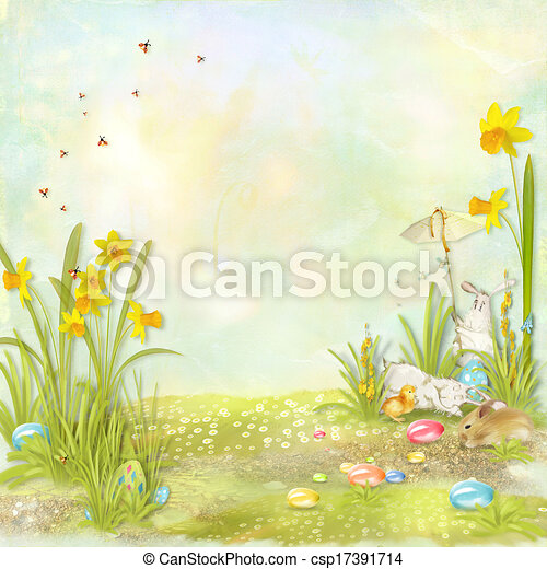 Easter card - csp17391714