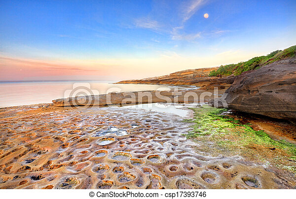 Sunrise at Botany Bay, Australia - csp17393746