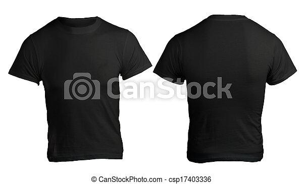 Men's Blank Black Shirt Template - csp17403336